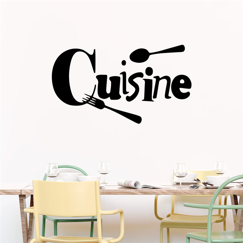 Creative Cuisine Quotes Wall Stickers Kitchen Dining Room Home