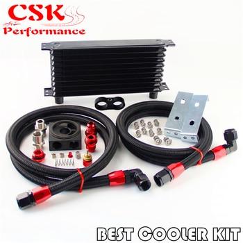 Güven AN10 10 Satır Yağ Soğutucu + Termostatik/termostat Sandviç Plaka Kiti BK