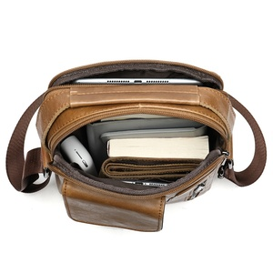 Image 5 - WESTAL mens shoulder bag small flap zipper mens crossbody bags genuine leather bags for men handbag male messenger bags 8211