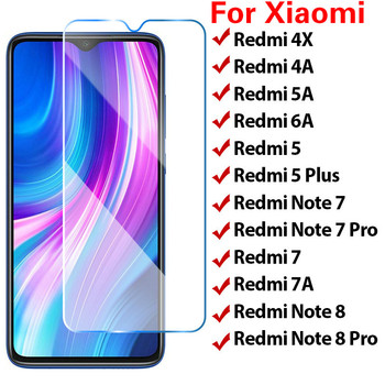 Toughed 9H HD Screen Protector for Xiaomi Redmi Note 7 K20 6 Pro 5 Plus Tempered Film Protective Glass on Redmi 7A 6A 5A 4A 4X image