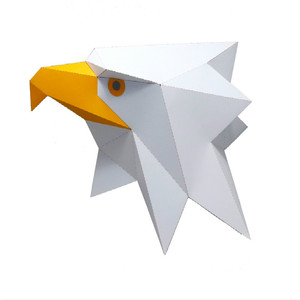 Image 5 - 3D Paper Mask Whitehawk White Eagle Costume Cosplay DIY PaperCraft Model Mask Christmas Halloween Prom Party Gift