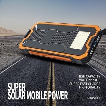 Huge Capacity Solar Power Bank 30000mAh Dual-USB Waterproof Solar Power Bank Battery Charger For All Phone Iphone Huawei Xiaomi 2