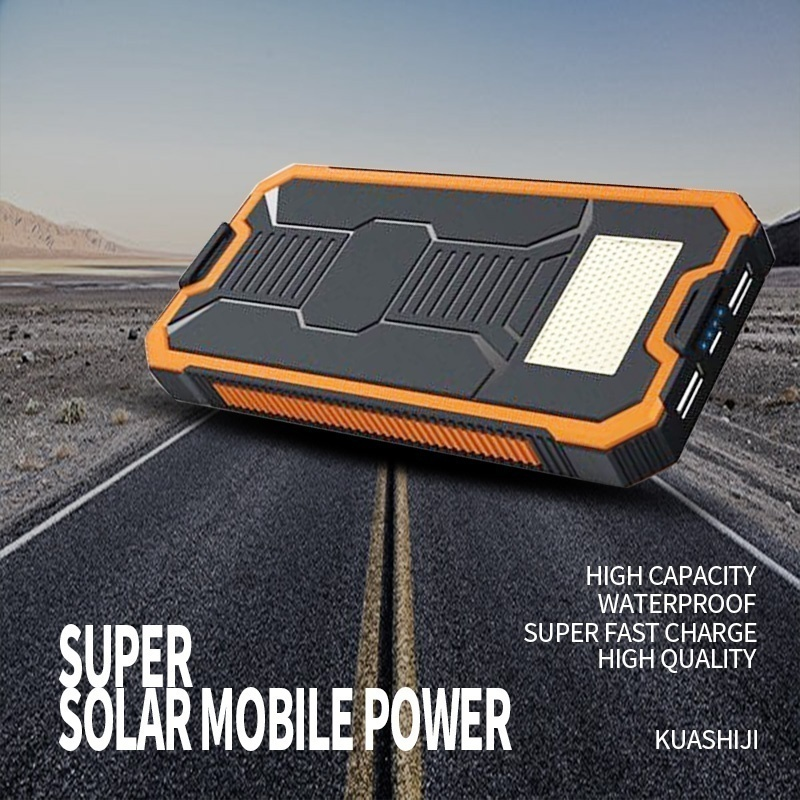 Dual-USB Waterproof Solar Power Bank and 30000mAh Huge Capacity Battery Charger For All Phone