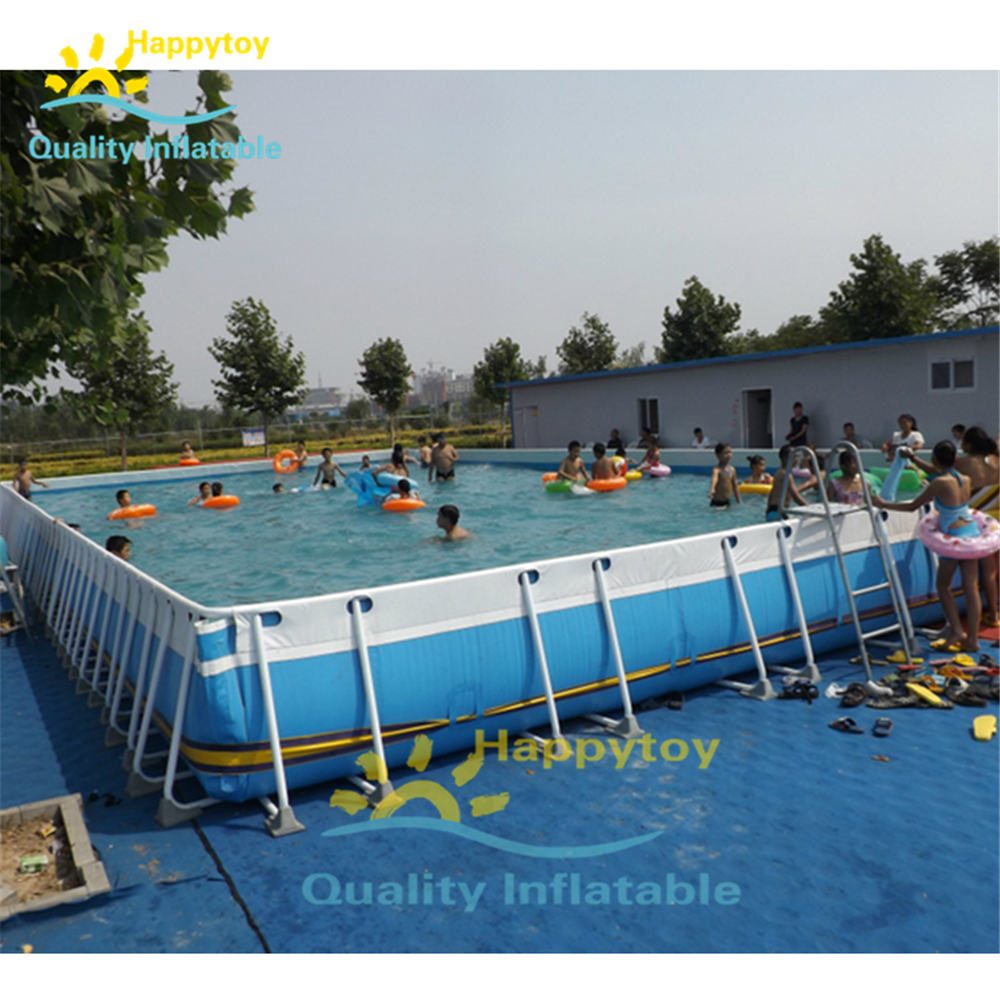 Giant Outdoor Portable PVC Above Ground Pool / Adult Swimming Frame Pool For Adult
