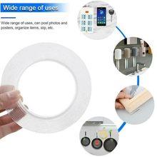 5m não-marcação nano fita dupla face fita lavável reutilização impermeável nenhum traço claro adesivo nano fita transparente