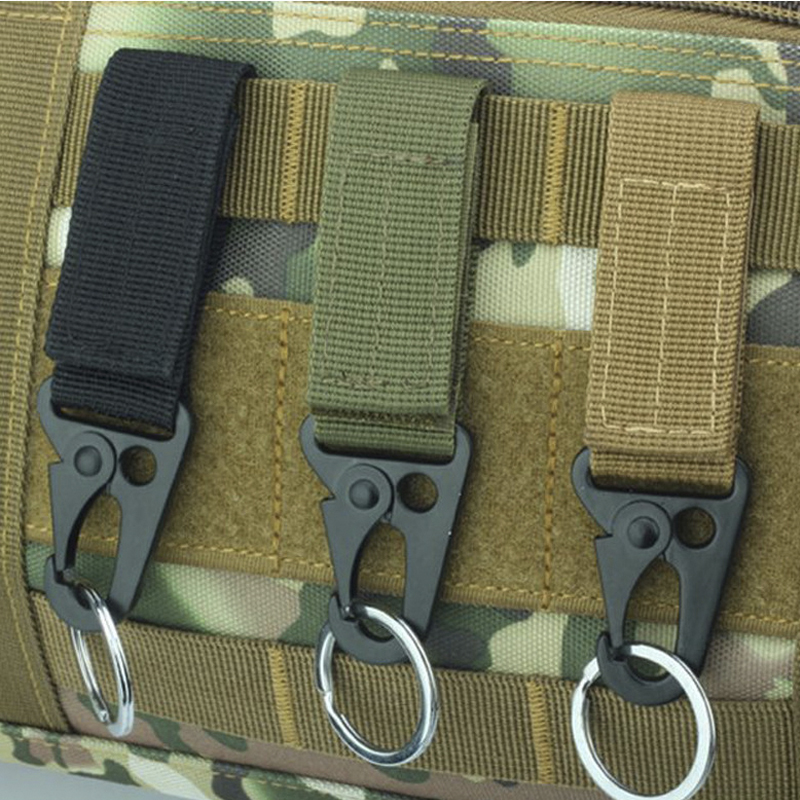 3PCS Outdoor Carabiner High Strength Nylon Molle Waist Belt Buckle  Hanging System Tactical Backpack Key Hook Webbing Buckle