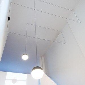 Image 4 - Lukloy Nachtkastje Moderne Hanglamp Led Draad Schorsing Lichten Kroonluchter Loft Decor Keuken Eiland Glazen Bol Lampen Met Hangers