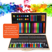 150/180 Pcs Kids Art Set Children Drawing WaterColor Pen Crayon Oil Pastel Painting Art supplies stationery Kit for Student Gift faber castell 30colors cute creative colorful crayons connector watercolor pen set for children drawing art stationery supplies
