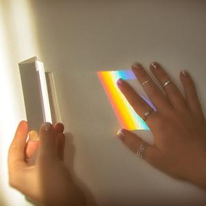 Image 5 - 25x25x80mm üçgen prizma BK7 optik prizmalar cam fizik öğretim kırılmış ışık spektrum gökkuşağı çocuk öğrenciler mevcut