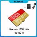 Cartão de Memória SanDisk Extreme 32 64 U3 V30 Micro SD de 128 GB 128 GB GB 64 32GB 256GB 400GB Micro SD Card SD/TF MicroSD de Flash para o Telefone