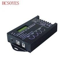 Controlador LED RGB programable con 5 canales de salida Total, ánodo común programable para Módulo de tira led DC12V/24V, TC420