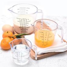 150/300/600ml Plastic Measuring Cups with Handle Water Milk Egg Scale Clear Scale Transparent Mug Pour Spout Measuring Cup Mug(China)