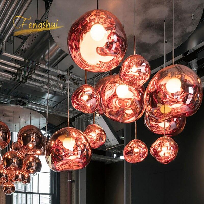 Image 3 - Nordic PVC LED Pendant Lights Lighting Lava Hanging Lamp for Living Room LOFT LED Pendant Lamp Bedroom Bar Luminarias HanglampPendant Lights   -