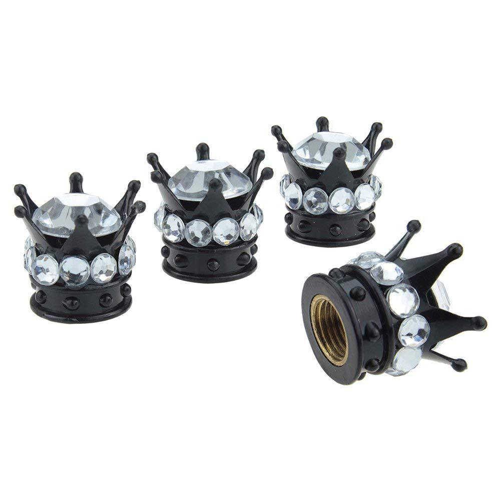 4 Buah/Set BLING Berlian Imitasi Roda Ban Tutup Batang Mobil Ban Topi Auto Truk Pneumatic Valves Colokan Penutup Puting Susu mobil