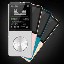 Original HiFi Metal Ultrathin MP3 MP4 Music Player Built-in Speaker 16GB 1.8 Inch Screen can Support 128GB SD Card with Video