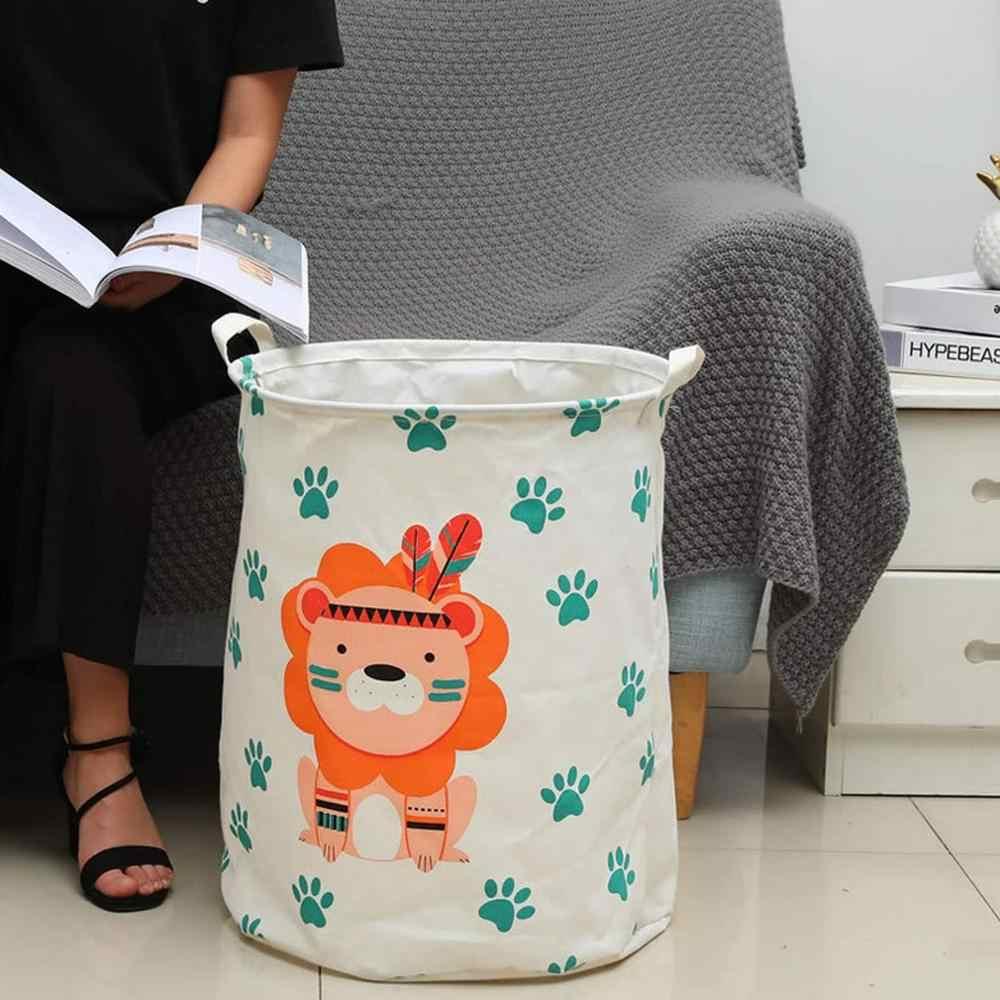 Mới Lớn Hoạt Hình Gấp Đựng Đồ Giặt Quần Áo Bẩn Giỏ Đựng Đồ Dành Cho Đồ Chơi Trẻ Em Ban Tổ Chức Giỏ Cất Giữ Đồ Lặt Vặt Thùng