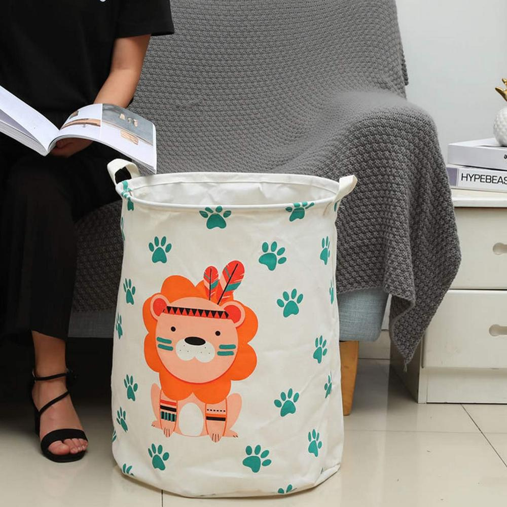 New Large Cartoon Folding Laundry Basket Dirty Clothes Storage Basket  For Kids Toys Organizers Basket Sundries Storage Barrel