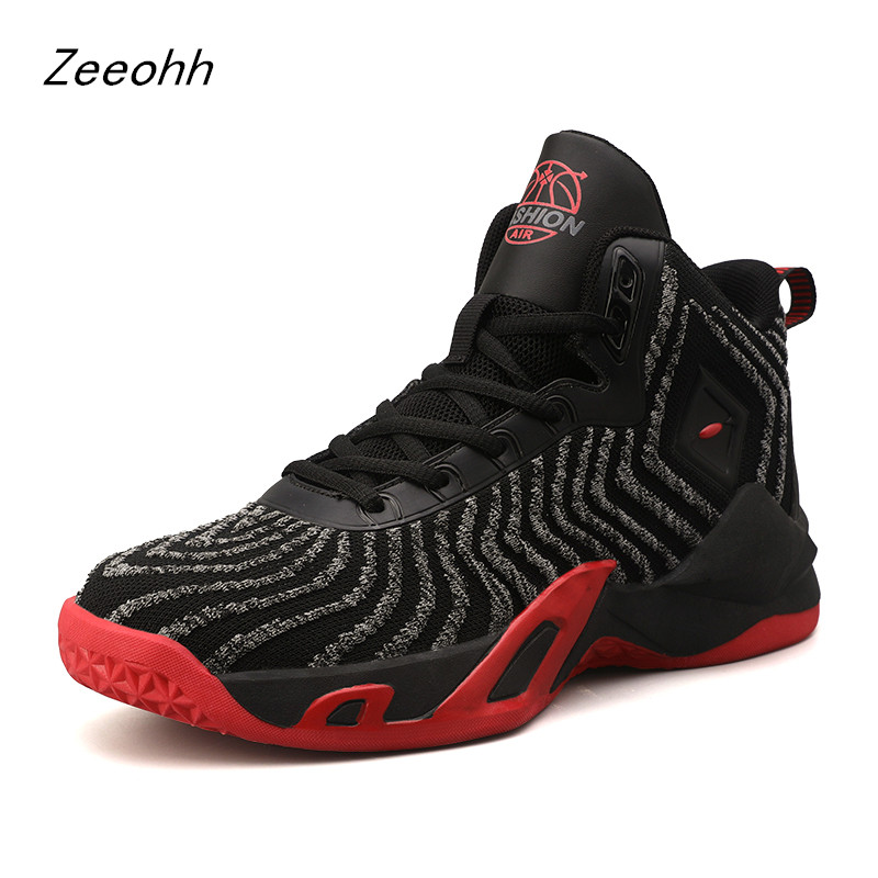 Breathable Basketball Shoes Shockproof High Top Sneakers Sport Shoes Outdoor Non slip Wear Resistant Training Ankle Boots|Basketball Shoes| |  - title=