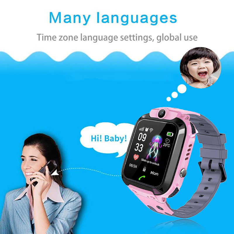 smart watch for kids children Phone Camera Touch Screen SOS Call LBS Tracking Location Finder Kids Baby SmartWatch Reloj intelig