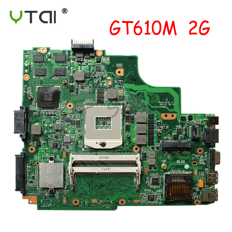 K43SD Motherboard REV:4.1 GT610M 2G  For ASUS K43SD K43E P43E A43E K43SV K43 Laptop Motherboard 100% Tested Intact