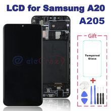 Оригинальный ЖК дисплей для samsung galaxy a20 a205 a205f сенсорный