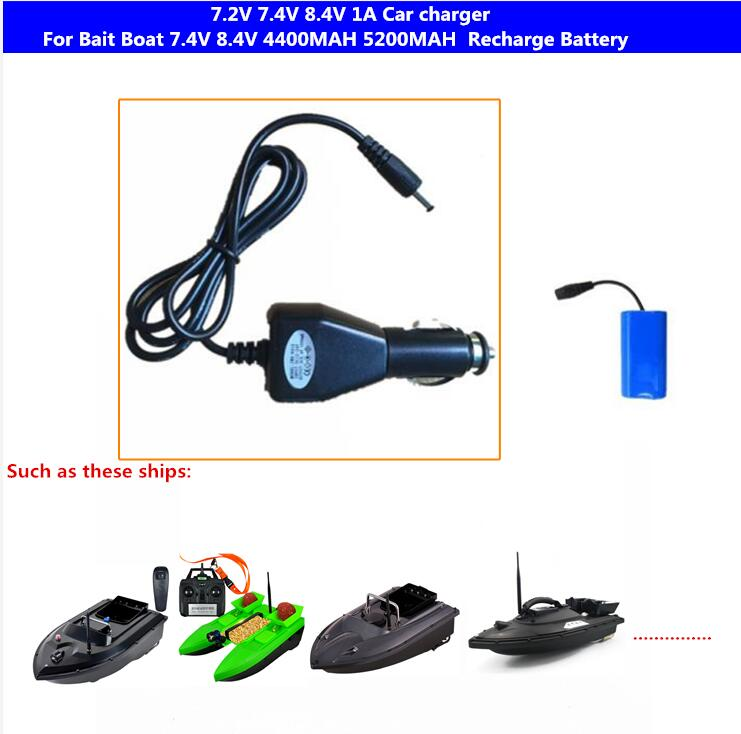 <font><b>7.4V</b></font> 8.4V 1A Car Charger For T008 2011-5 C18 T168 C118 And So on Remote Control Fishing Bait Boat <font><b>7.4V</b></font> 5200MAH <font><b>4400MAH</b></font> <font><b>Battery</b></font> image