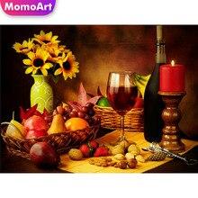 MomoArt Diy Diamond Painting Wine Friut Full Square Mosaic Picture Of Rhinestone Embroidery Cross Stitch