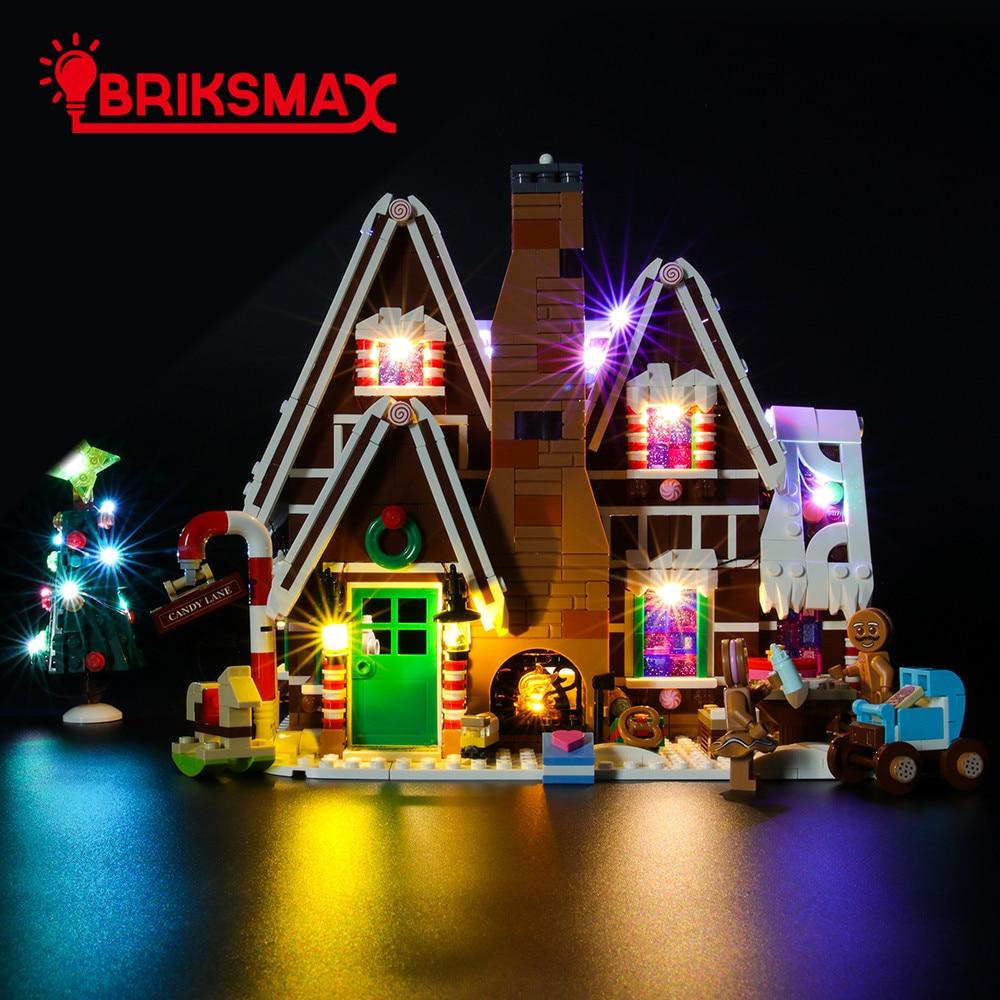 Комплект BriksMax со светодиодсветильник кой для генератора 10267, имбирный домик, осветительный набор для рождественской деревни, только без мод...