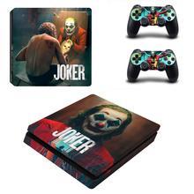 PS4 ince JOKER cilt vinil yapışkan kapak Sony Playstation 4 Slim konsol + 2 denetleyici koruyucu çıkartması oyun aksesuarları