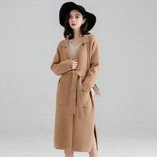 Office Lady Loose Womens Long Coats Outwear Winter Single Breasted Wool