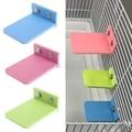 Подставка для хомяка, прямоугольная клетка для белки, цветная деревянная тарелка, игрушки, Прямая поставка