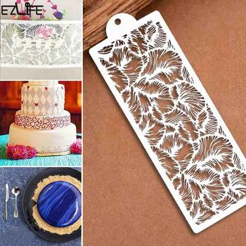 Openwork Painting Template Diy Photo Album Accessories Painting Template Theme Lace Ruler Drawing Template Spot image