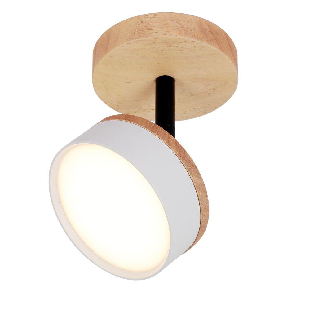 Lámpara LED de techo 9W 12W, lámpara de techo de macarrón nórdico, lámparas para salón, tienda, gabinete, lámpara moderna de madera 220V Lámpara led downlight 10w 230V 110V downlight con atenuación luces empotradas en el techo panel led redondo luz inteligente luz descendente wifi
