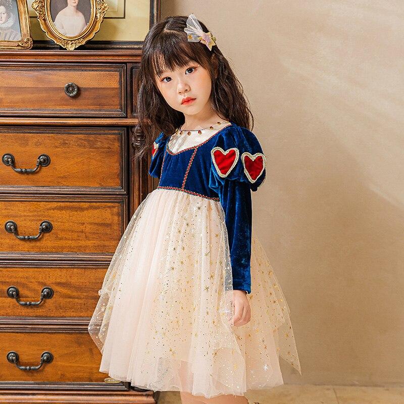 Hiver filles à manches longues robe en dentelle enfants noël princesse Costume robe de fête enfants vêtements