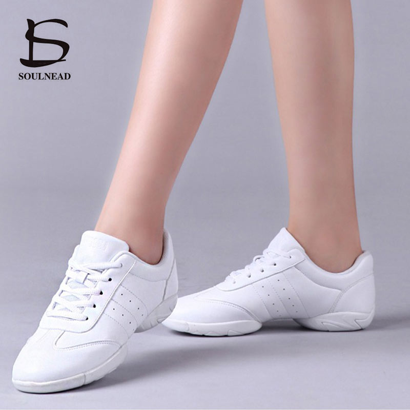 Aerobics Dance Shoes Women's Sneakers White Professional Training Gym Sports Shoe Girls Dancing Ladies Lightweight Fitness Shoes