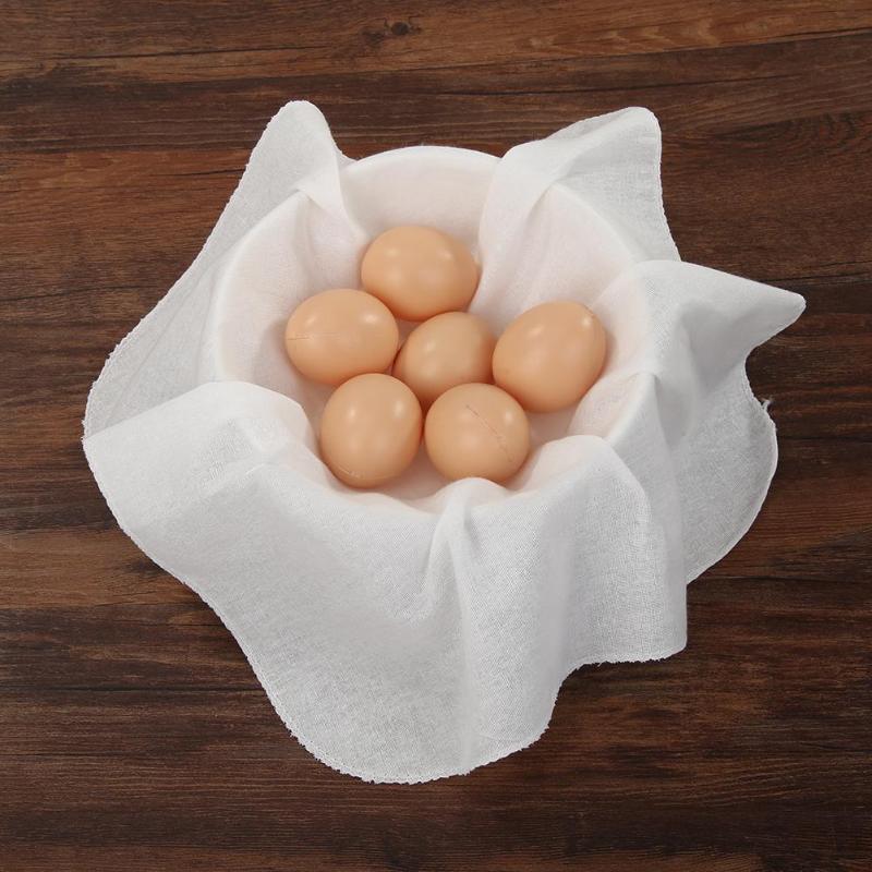 2pcs Reusable Cotton Bamboo Steamer Cloth Non-stick Yarn Baozi Jiaozi Bun Dumpling
