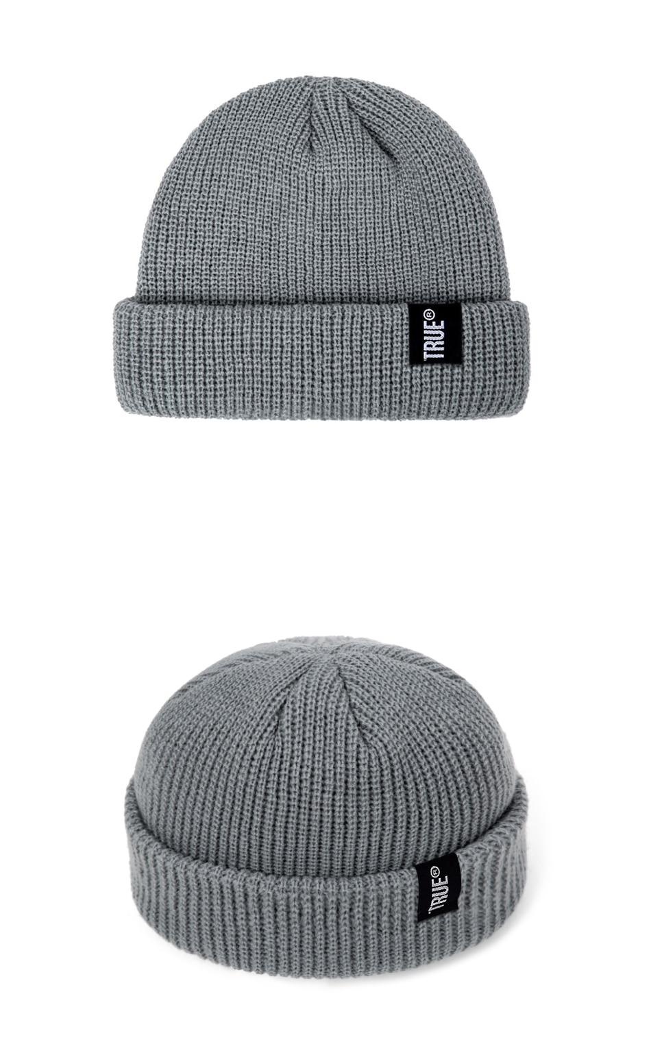 2019 Fashion Unisex Winter Hat Men Cuffed Cib Knit Hat Short Melon Ski Beanies Autumn Winter Solid Color Casual Beanie Hat 32