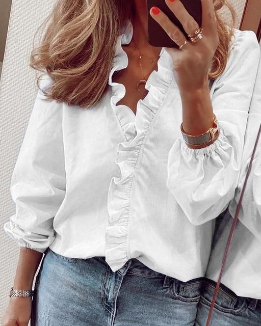 Купить женская блузка с оборками топы буквенным принтом ананаса v образный картинки цена