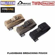 MILITECH bolsa táctica de respiración de Flashbang, TWINFALCONS TW delustrada, 500D, accesorios, bolsa de bomba de humo