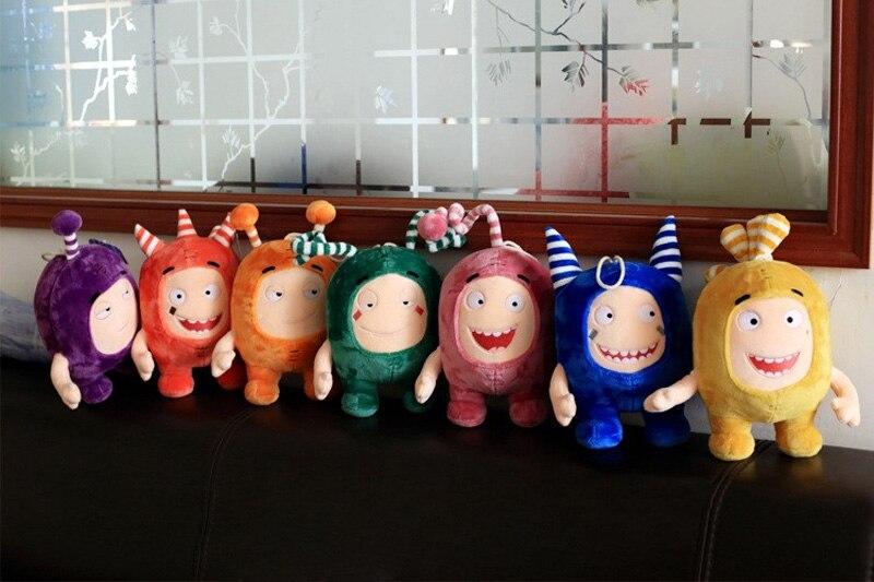 Stuffed-Toys Plush-Dolls Jeff-Fuse Slick Christmas-Gift Oddbods Kids Birthday Pogo 35CM