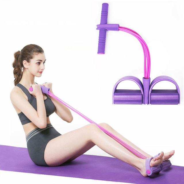 4 Resistanc Elastic Pull Ropes Exerciser Rower Belly Resistance Band Home Gym Sport Training Elastic Bands For Fitness Equipment 1