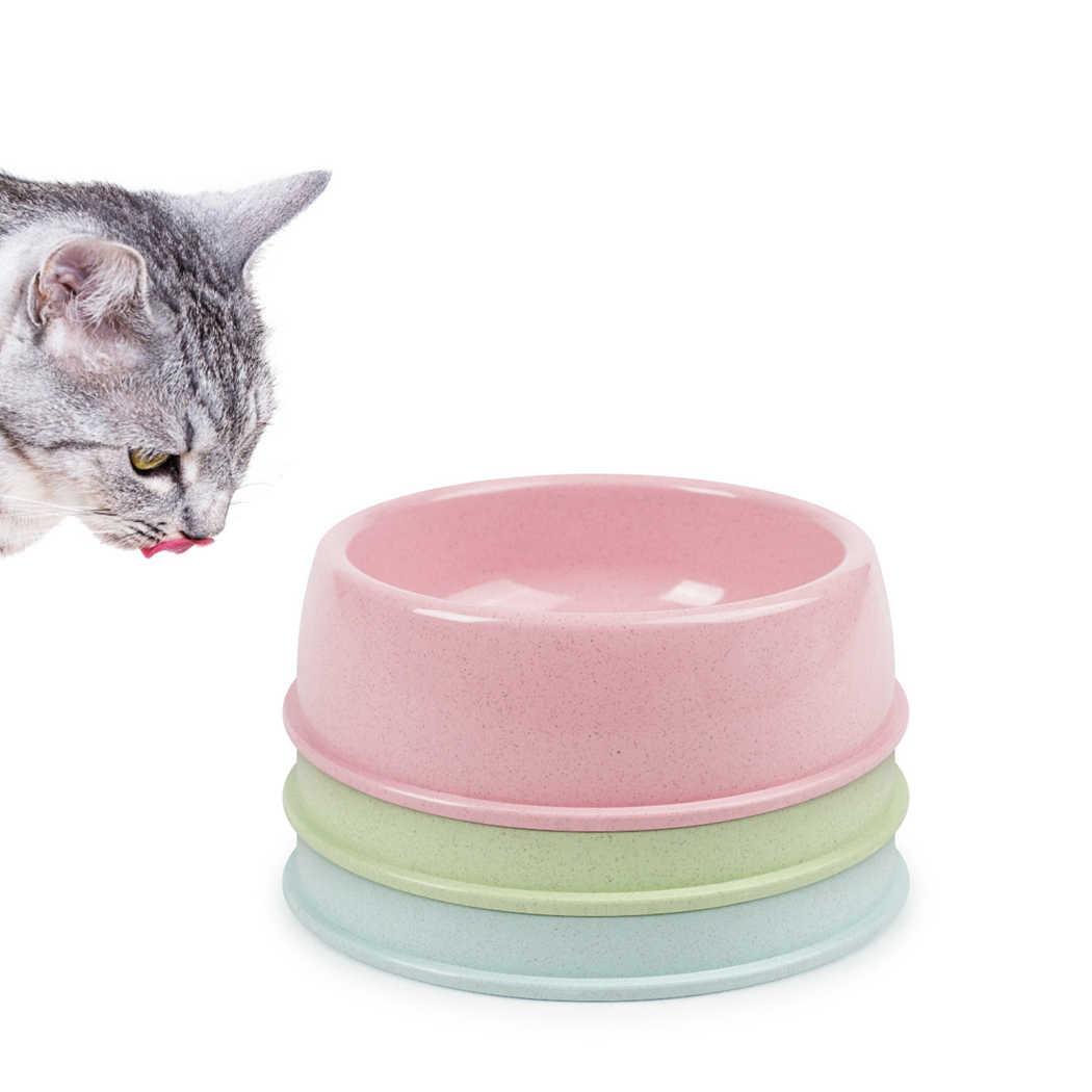 1 pc/3 pcs 애완 동물 그릇 밀 짚 애완 동물 식품 그릇 애완 동물 먹이 그릇 고양이 개 물 음식 피더 애완 동물 먹이 용품 청소하기 쉬운