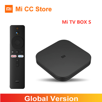 Global Version Xiaomi Mi TV Box S 4K Ultra HD Android 9.0 HDR 2GB 8GB WiFi BT4.2 Google Cast Netflix Smart TV Box 4 Media Player