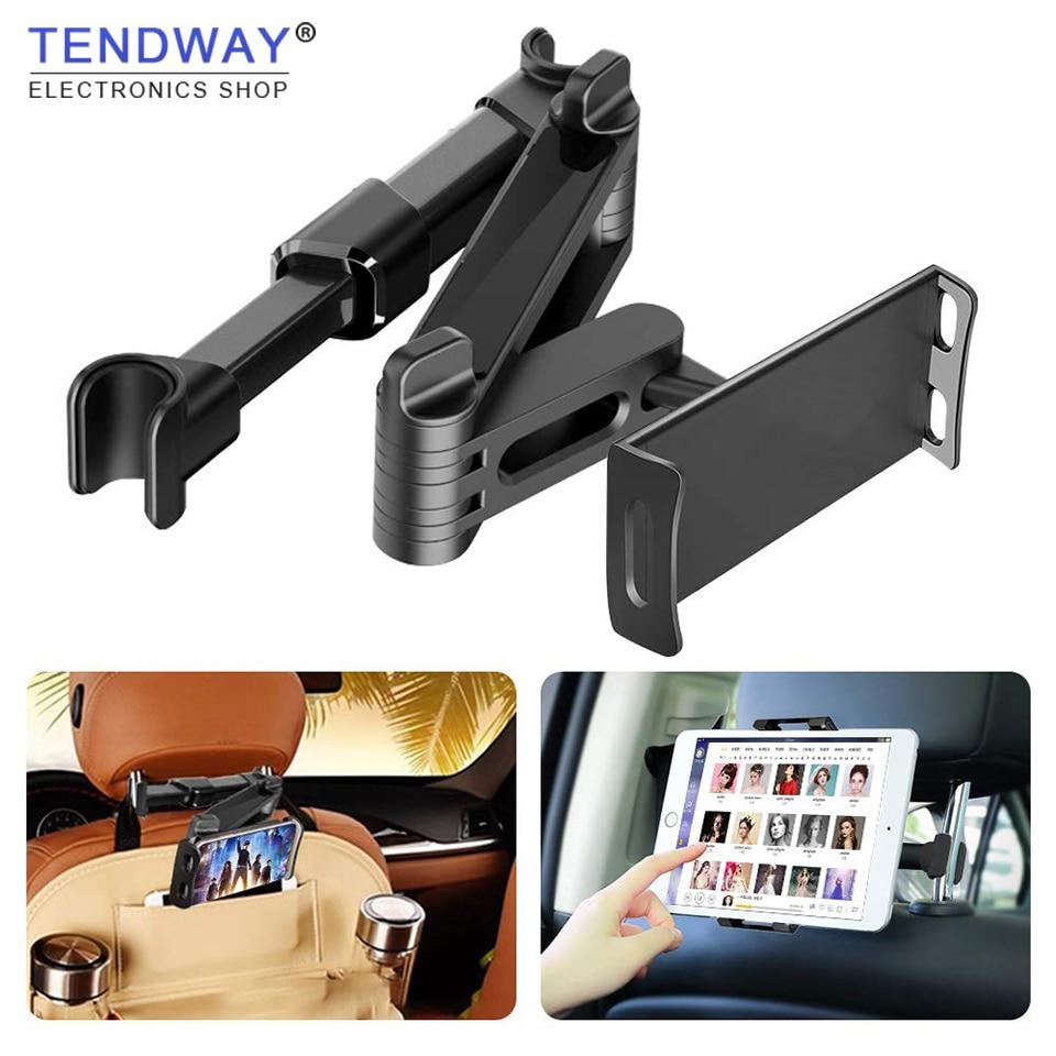 Suporte da tabuleta do carro suporte do carro travesseiro traseiro para o ar do ipad 2/3/4 7-11 universal universal 360 suporte de rotação banco traseiro do carro montagem handrest