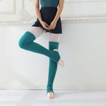 Fashion Leg Warmers Women Winter Long Socks Over The Knee Thermal Sleeve Step Foot Socks Dance Ballet Stocks(China)