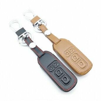 מכירה לוהטת עור מפתח כיסוי רכב מפתח מקרה עבור הונדה n-אחד N-BOX N wagon בתוספת 2018 חדש 4 כפתורים רכב מפתח תיבת מרחוק מכונית ארנק