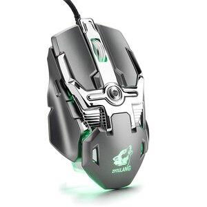Image 2 - Souris Gaming professionnelle filaire 6400dpi, souris dordinateur portable PC, souris ergonomique avec définition RGB