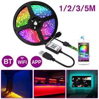 60LED/M bluetooth LED Strip Light 5050 RGB IP67 5V USB Flexible WiFi APP Control Music Remote Light Tape TV Backlight 1/2/3/5M