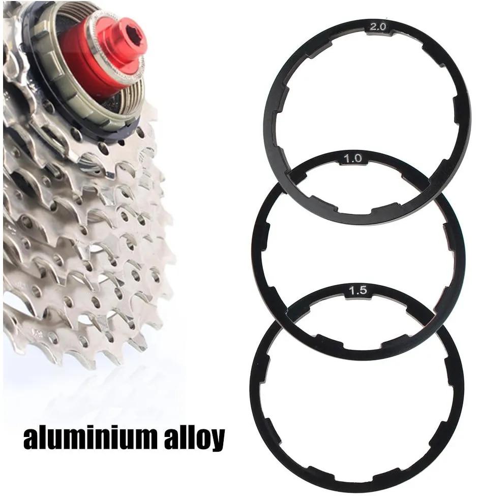 Logo Bicycle Flywheel Washer Bike Bottom Bracket Washer Aluminium MTB Bike Cassette Flywheel Hub Spacer Gasket Bicycle flywheel