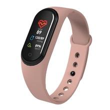 лучшая цена Waterproof Smart Band M4 Smart Bracelet Color Screen Fitness Tracker Sports Blood Pressure Heart Rate Monitor Smart Band 4